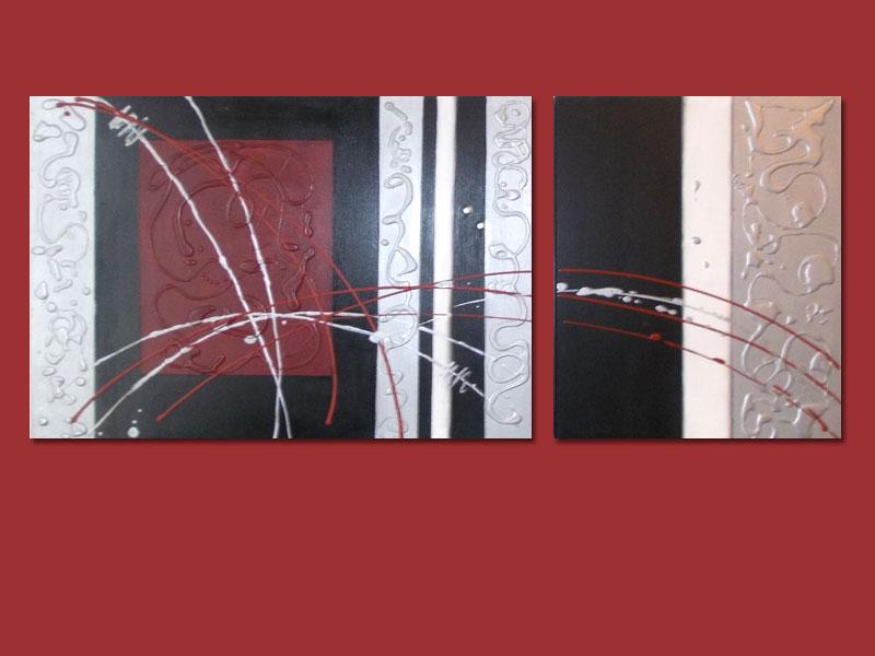 Cuadro abstracto moderno pintado a mano for Pisos pintados modernos