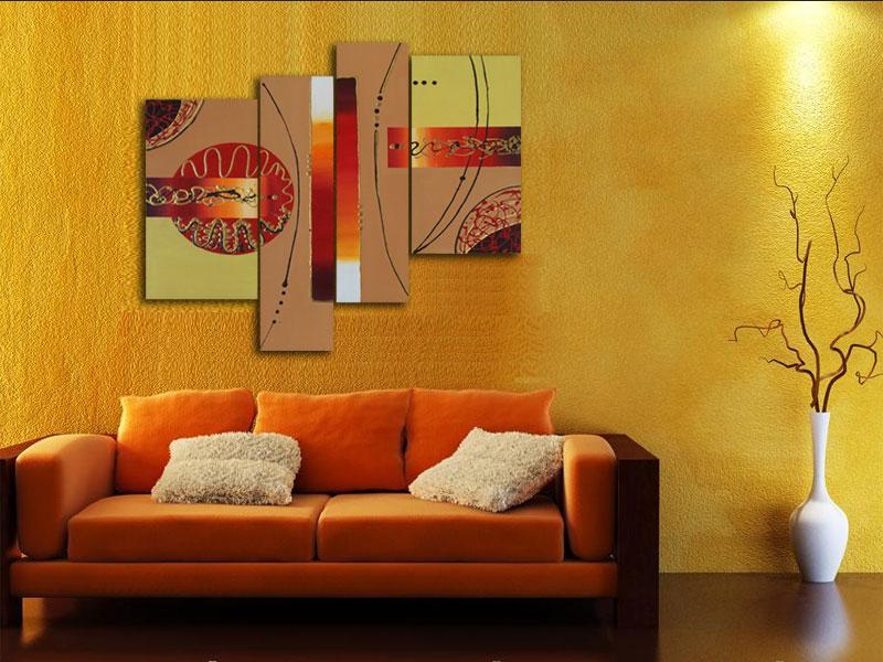 Cuadro abstracto moderno pintados a mano arte - Cuadros para salones minimalistas ...