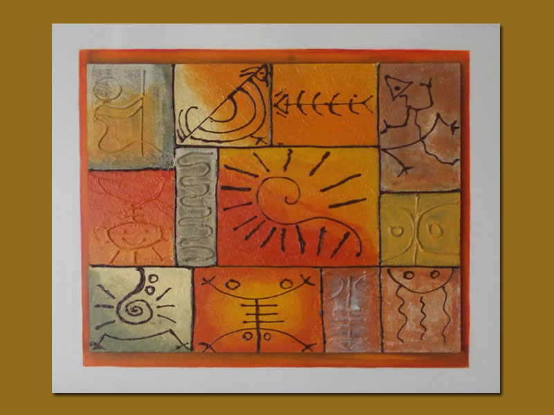 cuadros modernos etnicos pintados a mano arte abstracto